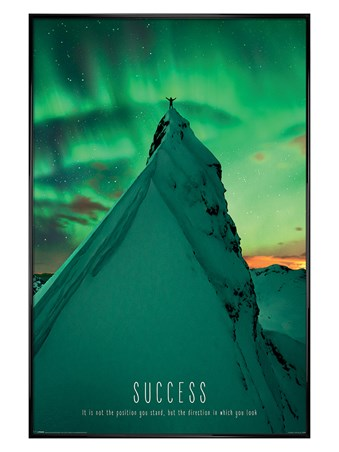 Gloss Black Framed Success - Motivational