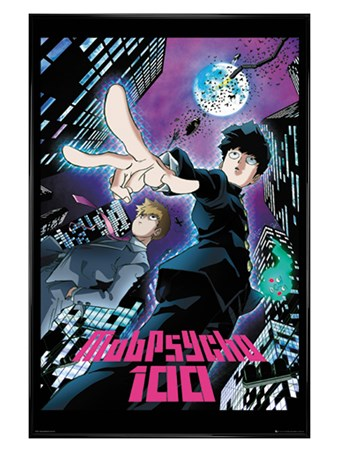 Gloss Black Framed Mob Psycho 100 City - Duo