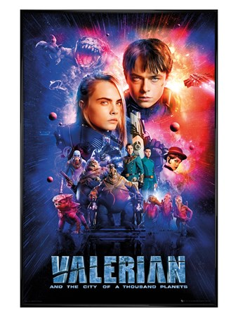 Gloss Black Framed A Thriving Metropolis - Valerian