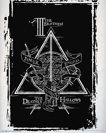 Harry Potter Deathly Hallows Mini Poster -