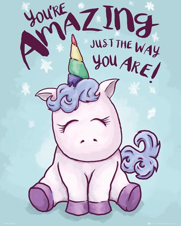 Framed Unicorn You're Amazing Mini Poster -