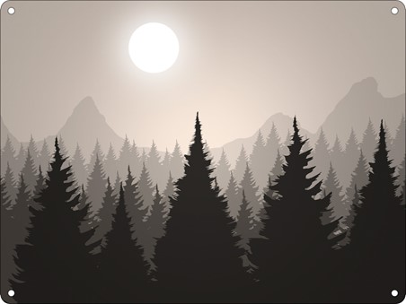 Forest At Dusk - Silhouette of Serenity