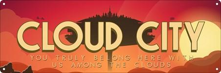 Framed Cloud City - Floating Metropolis