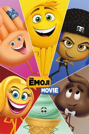 Framed Star Characters - The Emoji Movie