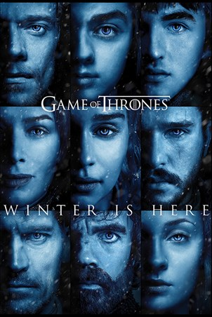 Framed Winter is Here - Game Of Thrones
