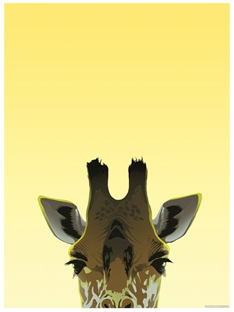 Framed Peaking Giraffe - Inquisitive Creatures