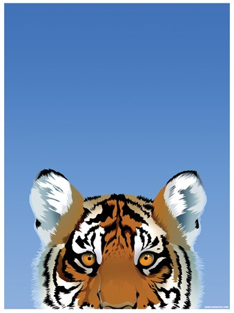 Framed Tiger - Inquisitive Creatures