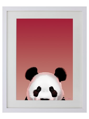 White Wooden Framed Panda - Inquisitive Creatures