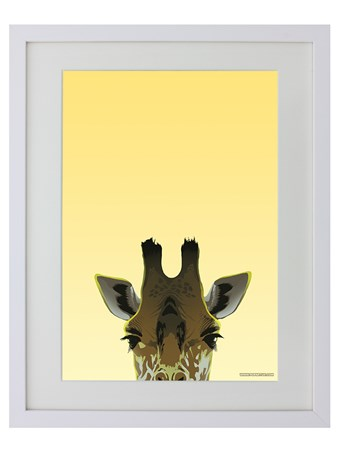 White Wooden Framed Giraffe - Inquisitive Creatures