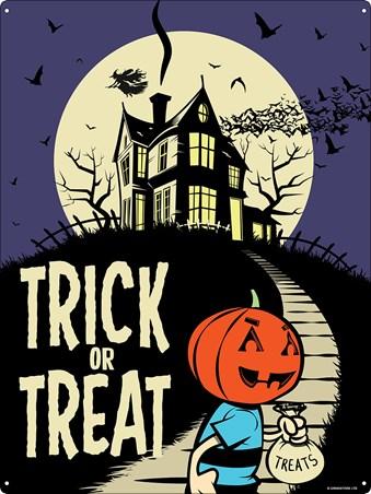 Framed Trick Or Treat Night - Retro Style Halloween