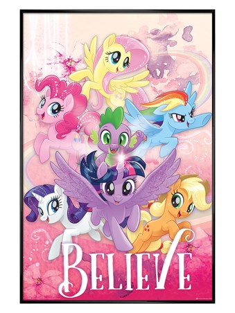 Gloss Black Framed Believe - My Little Pony Movie