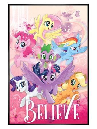Framed Gloss Black Framed Believe - My Little Pony Movie