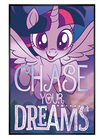 Gloss Black Framed Chase Your Dreams - My Little Pony