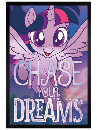 Black Wooden Framed Chase Your Dreams - My Little Pony Movie