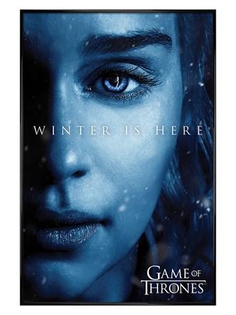 Gloss Black Framed Winter is Here Daenerys - Game Of Thrones