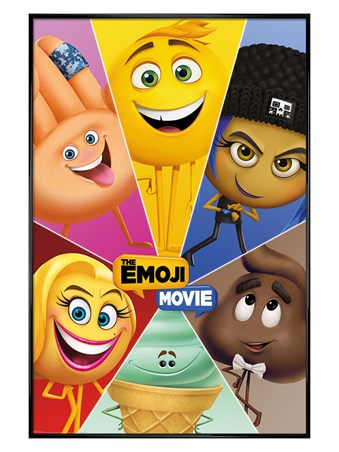Gloss Black Framed Star Characters - The Emoji Movie
