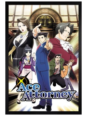 Black Wooden Framed Phoenix Wright - Ace Attorney