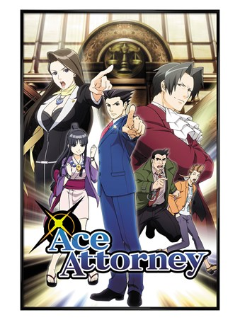 Gloss Black Framed Phoenix Wright - Ace Attorney