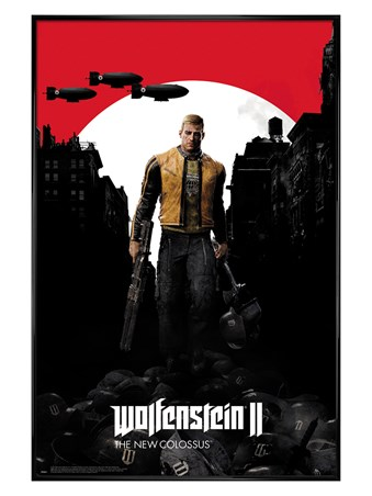 Gloss Black Framed The New Colossus - Wolfenstein 2