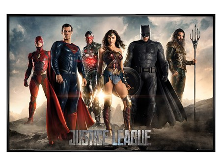 Gloss Black Framed Characters - Justice League