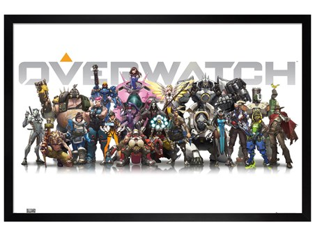 Black Wooden Framed Characters - Overwatch