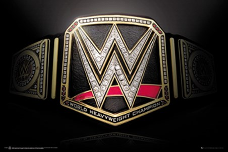 Framed Title Belt - WWE