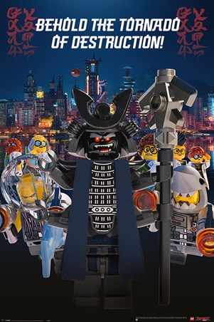 Garmadon Destruction Lego 174 Ninjago Movie Poster Buy Online