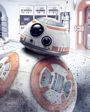 BB-8 Peek - Star Wars The Last Jedi