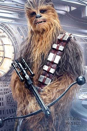 Framed Chewbacca Bowcaster - Star Wars The Last Jedi