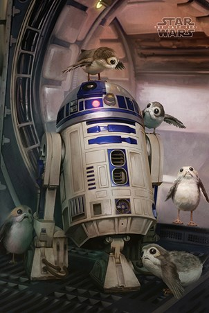 R2-D2 & Porgs - Star Wars The Last Jedi