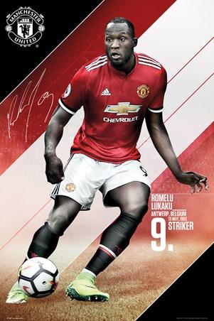 Framed Manchester United 17-18 - Romelu Lukaku