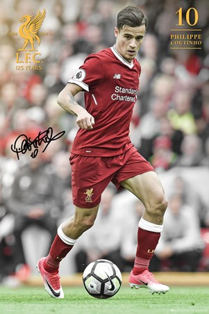 Framed Coutinho 17-18 - Liverpool FC