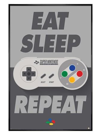 Gloss Black Framed SNES Controller - Nintendo
