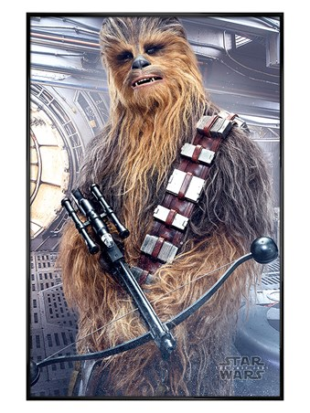 Gloss Black Framed Chewbacca Bowcaster - Star Wars The Last Jedi
