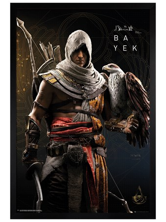 Framed Black Wooden Framed Origins - Assassins Creed