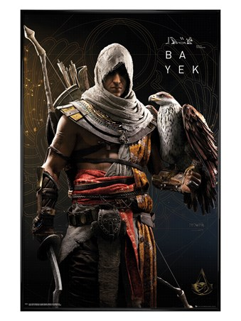 Gloss Black Framed Bayek - Assassins Creed Origins