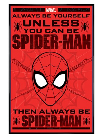 Gloss Black Framed Spider-Man - Always Be Yourself