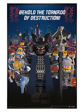 Gloss Black Framed Garmadon Destruction - LEGO® Ninjago Movie
