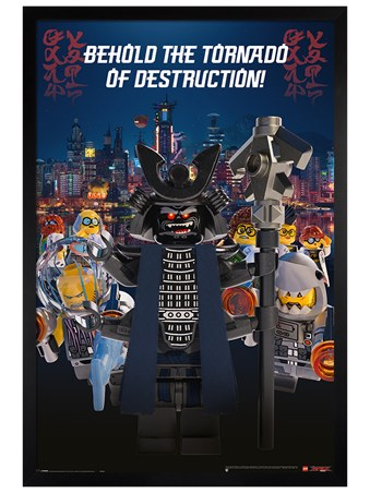 Black Wooden Framed Garmadon Destruction - LEGO® Ninjago Movie