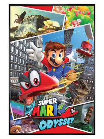 Gloss Black Framed Odyssey Collage - Super Mario