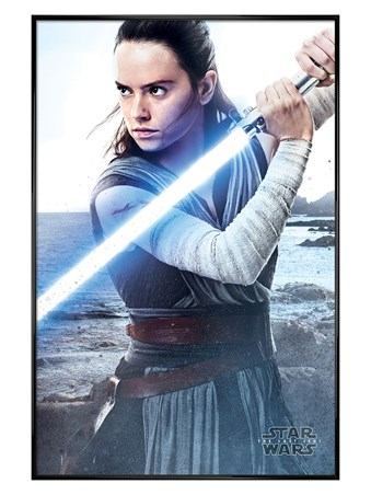 Gloss Black Framed Rey Engage - Star Wars The Last Jedi