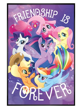 Gloss Black Framed Friendship is Forever - My Little Pony Movie