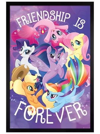Black Wooden Framed Friendship is Forever - My Little Pony Movie