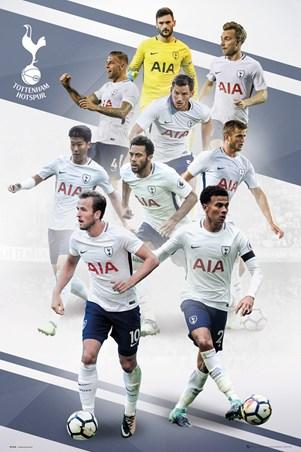 Framed Players 17-18 - Tottenham FC