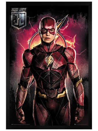 Black Wooden Framed Flash Solo - Justice League