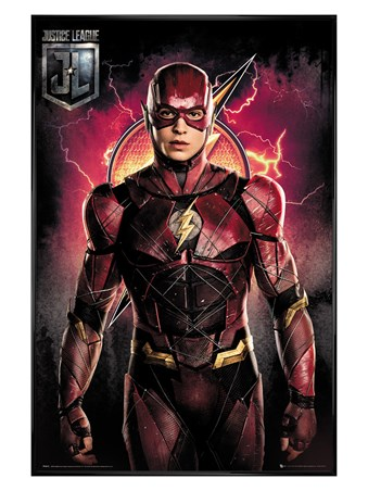 Framed Gloss Black Framed Flash Solo - Justice League