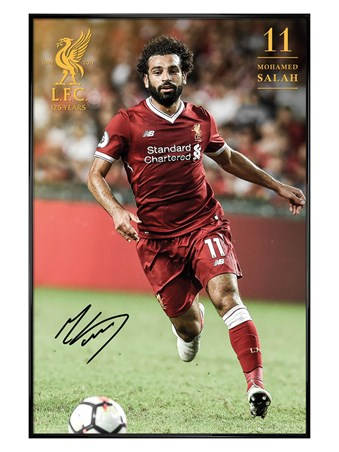 Framed Gloss Black Framed Salah 17-18 - Liverpool