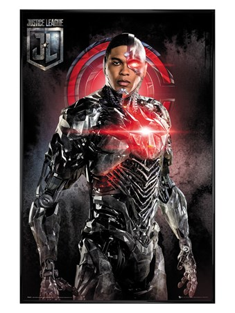 Gloss Black Framed Cyborg Solo - Justice League