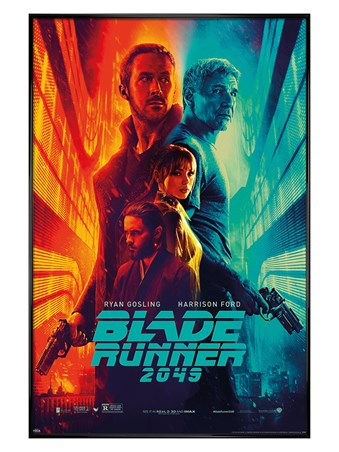 Framed Gloss Black Framed Fire & Ice - Blade Runner 2049