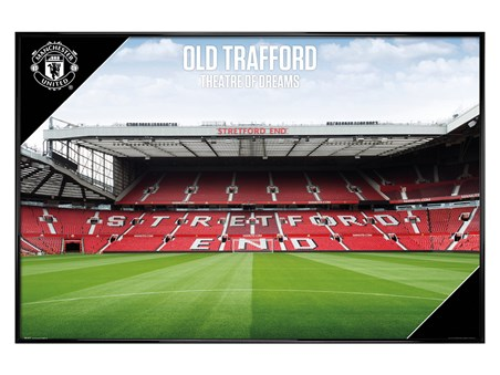 Framed Gloss Black Framed Old Trafford 17-18 - Manchester United